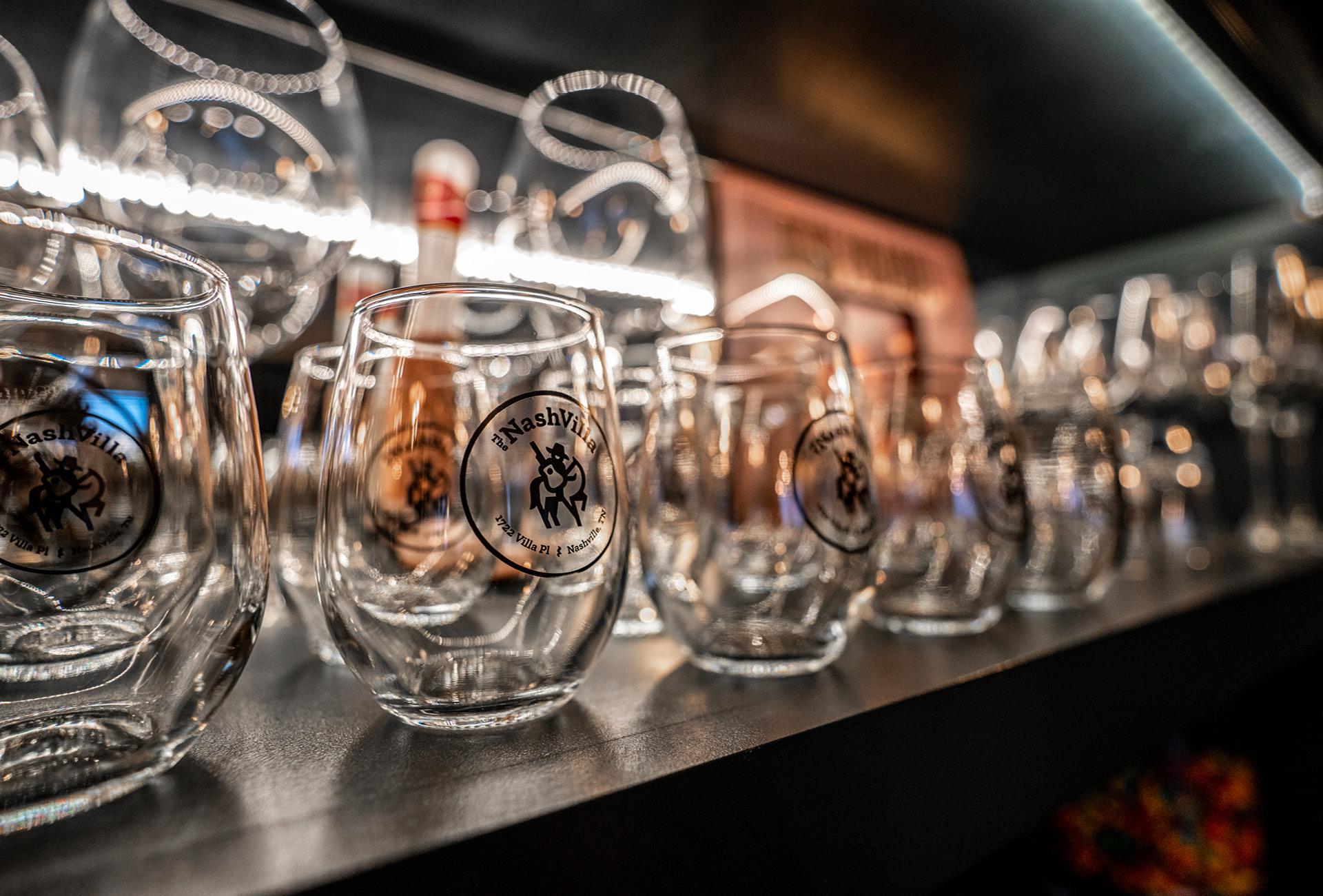 Branded NashVilla wine glasses