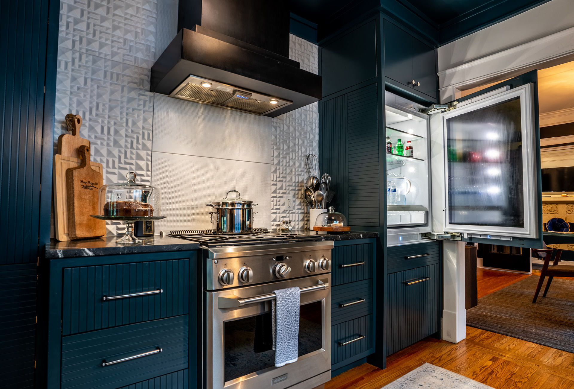 The NashVilla's spacious and modern kitchen